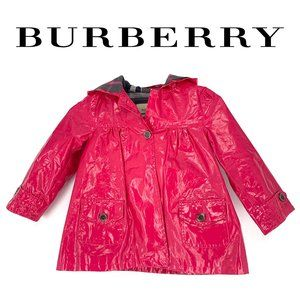 Burberry Girls Pink Rain Jacket Size 4Y